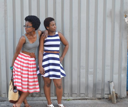 Candy stripe sisters!